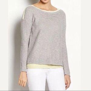 Eileen Fisher Slub Stitch Gray Sweater 3XL
